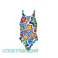 Купальник дитячий Arena FROLIC JR TECH BACK ONE PIEC Royal-Multi 002297-720